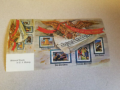 """Vintage """"Historical Events in U.S. History Spirit of Our Times"""" Postcard"""