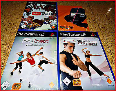 PS2 3 Eye Toy Games + Cam 100DERTE Funny Bewegungsgames Eye Toy Fitness