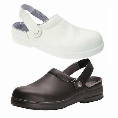 Safety Clog Shoes Work Boots Toe Cap Durable Food Medical Industry Portwest FW82