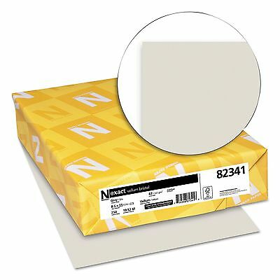 Wausau Exact Vellum Bristol Card Stock 67lb Yellow - 250 Sheets New