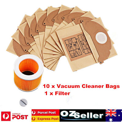 10Pcs Vacuum Cleaner Bags Fit Karcher MV2, WD2.000-WD2.399, A2000-A2099 WD2.250