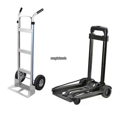 Cart Folding Dolly Push Truck Hand Collapsible Trolley Luggage Heavy Goods 500lb