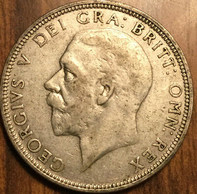 1933 Gb Uk Great Britain Florin .500 Silver Two Shillings