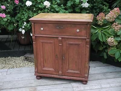 Gorgeous Old Victorian Pine/painted (Old Paint!) Dresser Base/sideboard/cupboard