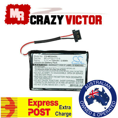 Battery for Navman EZY45 MY60T BP-LP720/11-A1B 338937010158 GPS Navigation