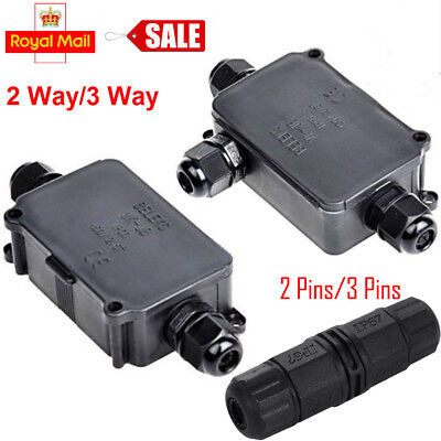 Waterproof Electrical Cable Wire Junction Box Case Connector Outdoor Plug Socket