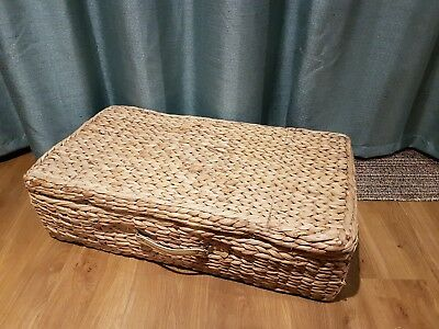 Large Underbed Water Hyacinth Lidded Storage Baskets Box Drawer with Lid & LARGE UNDERBED WATER Hyacinth Lidded Storage Baskets Box Drawer with ...
