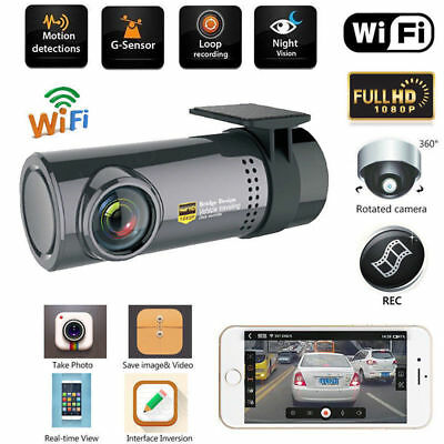 HD 1080P Car DVR WiFi Caméra Mini Dash Cam Recorder USB Night Vision
