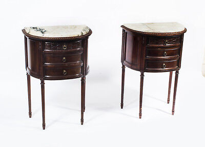 Antique Pair of Italian Bedside Cabinets c.1900