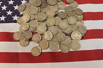 100 - Buffalo Nickels lot - with date - 1920's & 1930's - Indian Head