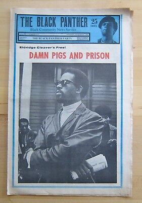 Original Vintage Dec. 7,1968 The Black Panther Party Newspaper-Vol. 2 No. 15-17