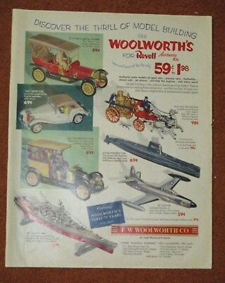 1954F. W. Woolworth Co Revell Model Kits Print Ad First 75 Years 1879 - 1954