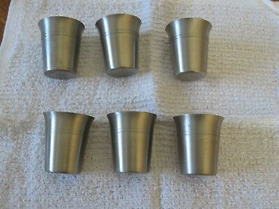 Lot Of 6 Vintage Zinn Jjf German Small Shot Glass