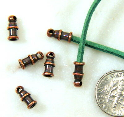 TierraCast, Pagoda End Cords, 2mm,, Antiqued Copper, 4 Pieces, 0018