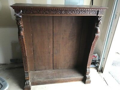 Horner Style Lion Headed Open Bookcase