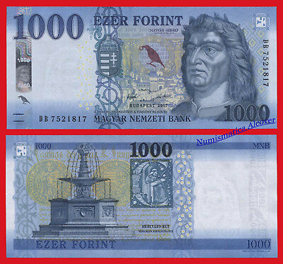 HUNGRIA HUNGARY 1000 Forint 2017 (2018) Pick NEW SC / UNC