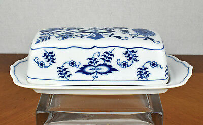 Vintage Blue Danube Onion Pattern Covered Butter Dish (Rectangle Japan Logo) (A)