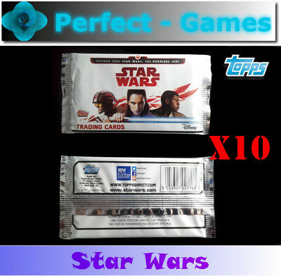 STAR WARS les derniers Jedi TOPPS Disney lot de 50 cartes à collectionner VF