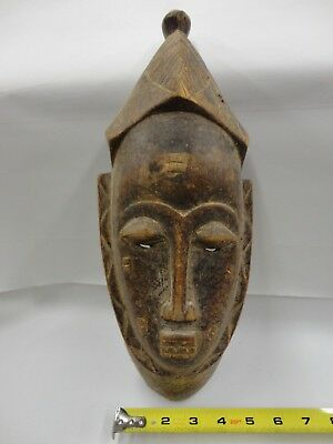 African Carved Wooden Mask Hand Carved 100% Of Sale Donated to Orant Charities