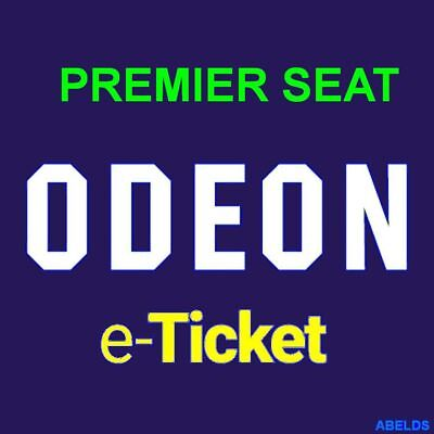 Odeon Cinema Ticket Adult PREMIER Seat Instant Code UK & London including M25