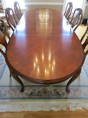 9 Piece Drexel Heritage Dining Room ,Table with 8 chairs, occasional use only.