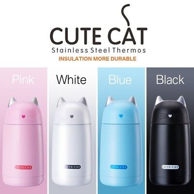 Cartoon Cat Stainless Steel Vacuum Kid's Cup Water Insulated Thermos Bottle
