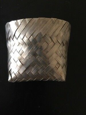 TANE Sterling Silver Woven Basket 925 Small Size  - 2nd one for sale