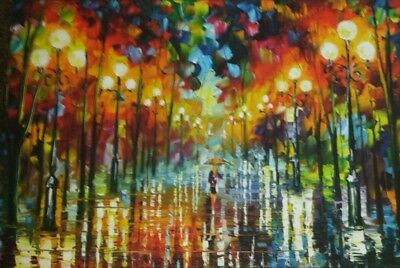STUNNING OIL PAINTING/LADY IN THE PARK  PICTURE WALL ART LARGE 20x30 INCHES