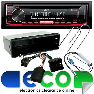 Peugeot 207 JVC CD MP3 USB AUX Bluetooth Car Stereo & Steering Wheel Fascia Kit