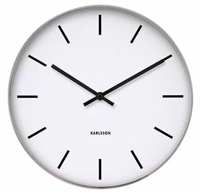 Karlsson Classic Station wall clock steel polished 37.5cm Home Office wall clock
