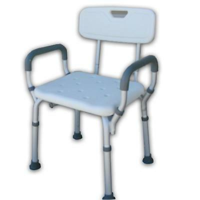 Delta C24 Shower Chair - Height adjustable aluminium framed shower chair with a