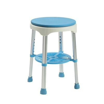 Delta S34 Shower Stool - Height adjustable shower stool with a padded swivel sea