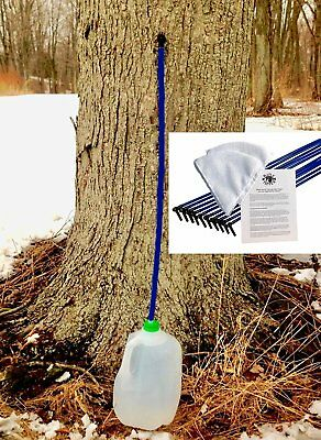 Maple Syrup Tree Tapping Kit - 10 Taps + 10 3-Foot Drop Line Tubes + 2 1-Quart -