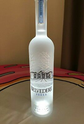 Belvedere Vodka Illuminated Bottle! 700ml Sealed With Tag!