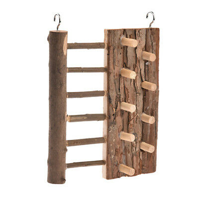 Small Pet Mouse Rat Mice Hamster Chew Toys Wooden Hanging Climbing Frame Ladder
