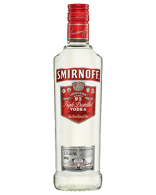 Smirnoff Red Label Vodka 500mL bottle