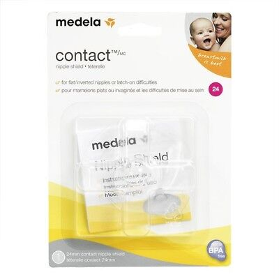 Two Medela Contact Nipple Shield 24mm + 3 Medela Quick Clean Micro-Steam Bags