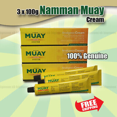 3x 100g Namman Muay Thai Boxing Analgesic Cream RELIEF MUSCLE PAIN