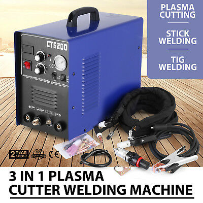 3-IN-1 50A 110/220V Plasma Cutter 200 Amp TIG MMA CUT Stick ARC Welder Cutter