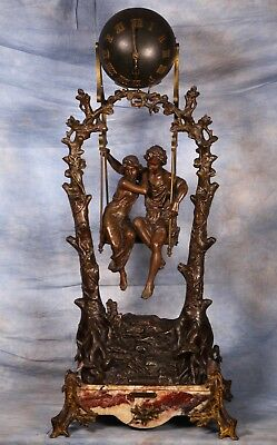 Exceptional Very Large Antique 19th Century French Mystery Swinger Clock