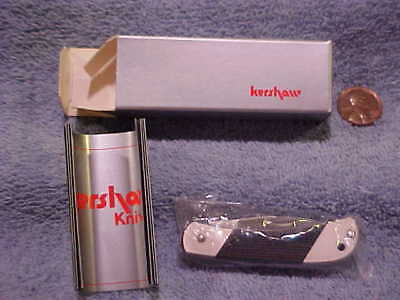 Vintage KershawJuniper Canyon Knife 3110 Black Handle New Box Discontinued ByCH