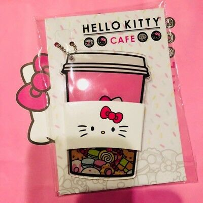 NEW Hello Kitty Cafe Exclusive Keychain Sanrio Kawaii Rare Limited Edition