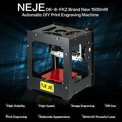 AU 1500mW Mini USB Laser Engraver Printer Carver DIY Engraving Cutting Machine