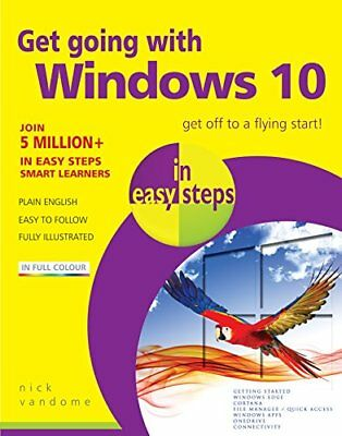 Get going with Windows 10 in easy steps by Nick Vandome Book The Cheap Fast Free