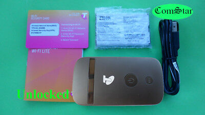 New Unlocked ZTE MF90 4G Wifi Modem Broadband Telstra Optus Vodafone Black