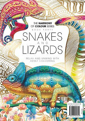 Harmony of Colour Book 40 Snakes and Lizards - Adult Colouring 36 Designs - NEW