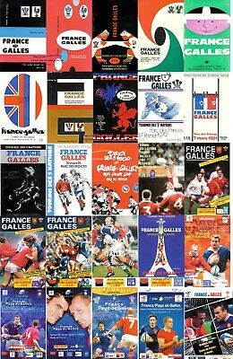 FRANCE v WALES RUGBY PROGRAMMES 1961 TO 2011 GOOD+ CONDITION FIVE & SIX NATIONS