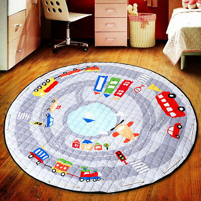 Cotton Baby Kids Game Activity Mat Crawling Blanket Floor Rug Toy Storage