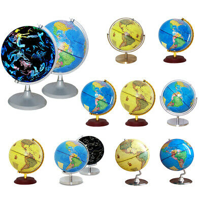 Rotating Geography World Map Light Up/Globe Illuminated Constellation Desk Décor