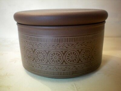"""Hornsea Palatine Covered Lidded Butter Dish 4.75"""" dia x 3"""" Tall Vintage Retro"""